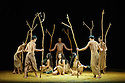"""Cloud Gate Dance Theatre of Taiwan present """"Songs of the Wanderers"""", choreographed by Lin Hwai-min, at Sadler's Wells. The dancers are: Chen Lien-wei, Chen Tsung-chiao, Cheng Hsi-ling, Chou chen-yeh, Hou Tang-li, Huang Mei-ya, Kuo Tzu-wei,  Wong Lap-cheong, Yang I-chun, Yeh Yi-ping."""