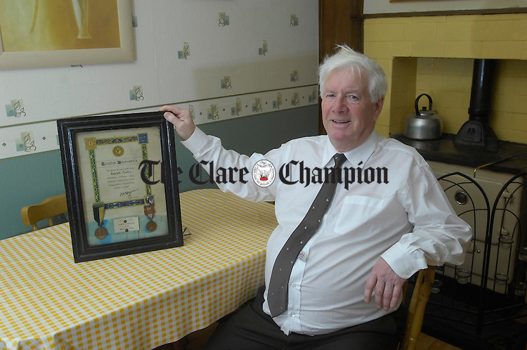 Tony Sexton surrounded by memories at home in Galway. Photograph by John Kelly.