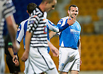 St Johnstone v Queens Park....25.09.12      Scottish Communities League Cup 3rd Round.All smiles on the face of Craig Beattie as he makes a return to football.Picture by Graeme Hart..Copyright Perthshire Picture Agency.Tel: 01738 623350  Mobile: 07990 594431