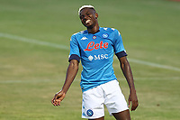 Victor Osimhen of SSC Napoli gestures<br /> during the friendly football match between SSC Napoli and L Aquila 1927 at stadio Patini in Castel di Sangro, Italy, August 28, 2020. <br /> Photo Cesare Purini / Insidefoto