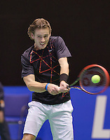 December 16, 2014, Rotterdam, Topsport Centrum, Lotto NK Tennis, Wesley Koolhof (NED)<br /> Photo: Tennisimages/Henk Koster