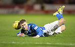Aberdeen v St Johnstone…10.12.16     Pittodrie    SPFL<br />David Wotherspoon goes down after being fouled…his resulting free kick hit the post<br />Picture by Graeme Hart.<br />Copyright Perthshire Picture Agency<br />Tel: 01738 623350  Mobile: 07990 594431