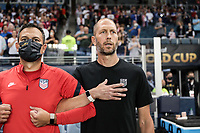 KANSAS CITY, KS - JULY 15: Head coach of USA Gregg Berhalter during a game between Martinique and USMNT at Children's Mercy Park on July 15, 2021 in Kansas City, Kansas.