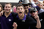 TCU Horned Frogs and Oklahoma Sooner fans watch the action during the game between the Oklahoma Sooners and the TCU Horned Frogs  at the Amon G. Carter Stadium in Fort Worth, Texas. OU defeats TCU 24 to 17....