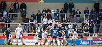 28th May 2021; AJ Bell Stadium, Salford, Lancashire, England; English Premiership Rugby, Sale Sharks versus Bristol Bears;  James Harper of Sale Sharks  rises to claim the line out ball