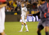 LA Galaxy midfielder David Beckham waits for referee Baldomero Toledo's whistle. The LA Galaxy defeated Chivas USA 1-0 to win the final edition of the 2009 SuperClásico at Home Depot Center stadium in Carson, California on Saturday, August 29, 2009...