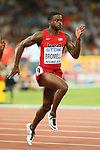 Trayvon Bromell (USA), <br /> AUGUST 22, 2015 - Athletics : <br /> 15th IAAF World Championships in Athletics Beijing 2015 <br /> Men's 100m Heats <br /> at Beijing National Stadium in Beijing, China. <br /> (Photo by YUTAKA/AFLO SPORT)