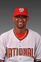 14 March 2008: ..Portrait of Eduardo Delacruz, Washington Nationals Minor League player at Spring Training Camp 2008..Mandatory Photo Credit: Ed Wolfstein Photo