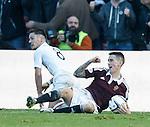 Ian Black fouls Jamie Walker for a penalty