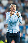 Coach Enrique Setien Solar, Quique Setien, of Real Betis gestures during the La Liga 2017-18 match between Real Madrid and Real Betis at Estadio Santiago Bernabeu on 20 September 2017 in Madrid, Spain. Photo by Diego Gonzalez / Power Sport Images