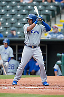 Jeimer Candelario (5) of the Iowa Cubs at bat during a game against the Iowa Cubs at Chickasaw Bricktown Ballpark on April 9, 2016 in Oklahoma City, Oklahoma.  Oklahoma City defeated Iowa 12-1 (William Purnell/Four Seam Images)