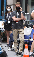 NEW YORK, NY - July 19: Michael Patrick King on the set of the HBOMax Sex and the City reboot series And Just Like That on July 19, 2021 in New York City. <br /> CAP/MPI/RW<br /> ©RW/MPI/Capital Pictures