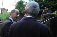 Pictured: Prince Edward (left), Earl of Wessex arrive at Llandaff Cathedral, Cardiff, Wales, UK.  Sunday 11 November 2018<br /> Re: Commemoration for the 100 years since the end of the First World War on Remembrance Day at the Llandaff Cathedral, in Llandaff, Cardiff, Wales, UK.