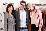 Spanish director, Norberto López Amado (c) and the actresses<br /> Belén Rueda (r) and Marian Álvarez (l) during the photocall of presentation of the film 'El cuaderno de Sara'. January 30, 2018. (ALTERPHOTOS/Acero)