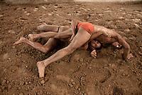 Last mud Kushti wrestlers