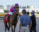 March 27, 2021: War Like Goddess #1, ridden by jockey Julien Leparoux, outduels #9 Always Shopping and jockey Irad Ortiz Jr. to win the  Orchid Stakes (Grade 3) on Florida Derby Day at Gulfstream Park in Hallandale Beach, Florida Jersey. Liz Lamont/Eclipse Sportswire/CSM
