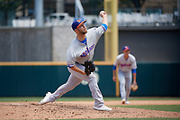 Midland RockHounds pitcher Cody Stull (16) during a Texas League game against the Frisco RoughRiders on May 21, 2019 at Dr Pepper Ballpark in Frisco, Texas.  (Mike Augustin/Four Seam Images)