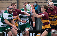 Sam Bryan of Ampthill RUFC during the Greene King IPA Championship match between Ealing Trailfinders and Ampthill RUFC being played behind closed doors due to the COVID-19 pandemic restrictions at Castle Bar , West Ealing , England  on 13 March 2021. Photo by Alan Stanford / PRiME Media Images