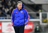 YOKOHAMA - JAPON, 22-03-2019: Carlos Queiroz técnico de Colombia gesticula durante partido amistoso de la fecha FIFA marzo 2019 entre las selecciones de Japón y Colombia jugado en el estadio Nissan de la ciudad de Yokohama. / Carlos Queiroz coach of Colombia gestures during friendly match for the FIFA date March 2019 between national teams of Japan and Colombia played at Nissan stadium in Yokohama city. Photo: VizzorImage / VizzorImage / Julian Medina / Cont