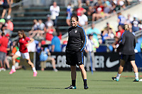 Cary, NC - Sunday October 22, 2017: Michelle French prior to an International friendly match between the Women's National teams of the United States (USA) and South Korea (KOR) at Sahlen's Stadium at WakeMed Soccer Park. The U.S. won the game 6-0.