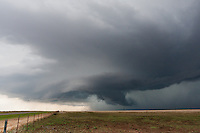 A Colorful Severe Thunderstorm Produces a Wall Cloud in Olustee, OK,  May 27, 2008
