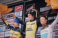 Danny Van Poppel (NED/LottoNL-Jumbo) wins the 2018 Binche - Chimay - Binche / Memorial Frank Vandenbroucke (1.1 Europe Tour)<br /> Belgian Champion Yves Lampaert (BEL/Quick Step Floors) finishes 2nd and Oliver Naesen (BEL/AG2R-La Mondiale) 3rd<br /> <br /> 1 Day Race: Binche to Binche (197km)