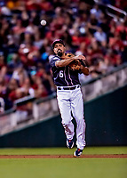 21 September 2018: Washington Nationals third baseman Anthony Rendon gets the 3rd out in the 6th inning against the New York Mets at Nationals Park in Washington, DC. The Mets defeated the Nationals 4-2 in the second game of their 4-game series. Mandatory Credit: Ed Wolfstein Photo *** RAW (NEF) Image File Available ***