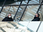 21.11.2020, PreZero-Arena, Sinsheim, GER, 1.FBL, TSG 1899 Hoffenheim vs VfB Stuttgart , <br />DFL  regulations prohibit any use of photographs as image sequences and/or quasi-video.<br />im Bild<br />Geschäftsführer Frank Briel (Hoffenheim), Geschäftsführer Denni Strich (Hoffenheim)<br /> <br /> Foto © nordphoto / Bratic