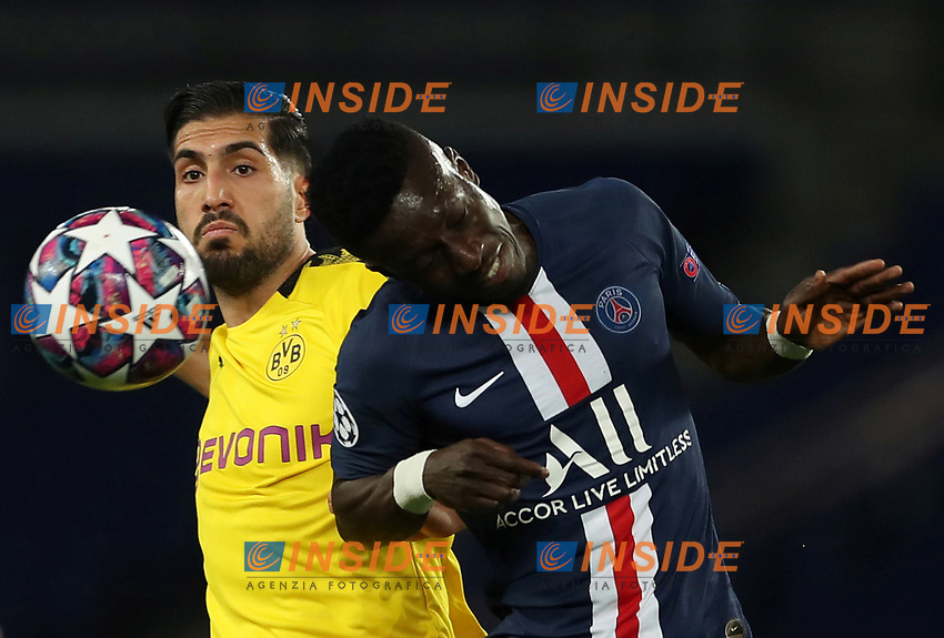 Soccer Football - Champions League - Round of 16 Second Leg - Paris St Germain v Borussia Dortmund - Parc des Princes, Paris, France - March 11, 2020  Paris St Germain's Idrissa Gueye in action with Borussia Dortmund's Emre Can    <br /> Photo Pool/Panoramic/Insidefoto