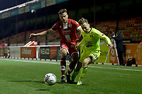Archie Davies of Crawley Town and Dan Kemp of Leyton Orient during Crawley Town vs Leyton Orient, Papa John's Trophy Football at The People's Pension Stadium on 5th October 2021