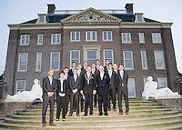 17-9-08, Netherlands, Apeldoorn, Tennis, Daviscup NL-Zuid Korea, Het Nederlandse team op de trappen van het bordes van Paleis het Loo,