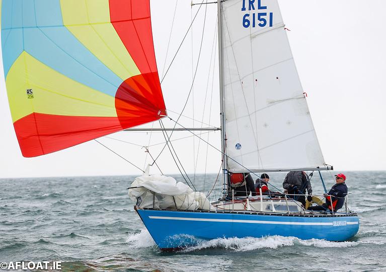 Royal St. George Yacht Club skipper Stephen Gill sailing Shannagh is the overall Ruffian 23 DBSC Thursday night Champion on Dublin Bay