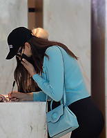 US model Irina Shayk is arriving to Versace's headquarters in Milan during Milan Fashion Week. Milan (Italy) on February 28th, 2021.Credit: ActionPress/MediaPunch **FOR USA ONLY**