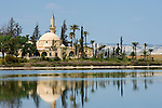 CYPRUS, Larnaca: Hala Sultan Tekkesi mosque at salt lake<br />