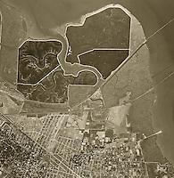 historical aerial photograph Menlo Park, California, 1948