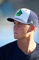 Vermont Lake Monsters pitcher Chris Kohler (32) during a game against the Batavia Muckdogs August 9, 2015 at Dwyer Stadium in Batavia, New York.  Vermont defeated Batavia 11-5.  (Mike Janes/Four Seam Images)