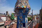 Barcelona, Spain<br /> Catalonia<br /> June 27, 2021<br /> <br /> The Palau Güell is a mansion designed by the architect Antoni Gaudí for the industrial tycoon Eusebi Güell, and was built between 1886 and 1888. It is situated on the Carrer Nou de la Rambla, in the El Raval neighborhood of Barcelona.