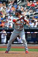 St. Louis Cardinals infielder Skip Schumaker #55 during a game against the New York Mets at Citi Field on July 21, 2011 in Queens, NY.  Cardinals defeated Mets 6-2.  Tomasso DeRosa/Four Seam Images
