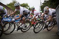 André Greipel (DEU/Lotto-Soudal) squeezing into a corner<br /> <br /> Elite Men Road Race<br /> UCI Road World Championships Richmond 2015 / USA