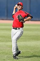 June 12th 2008:  Pitcher T.J. Beam of the Indianapolis Indians, Class-AAA affiliate of the Pittsburgh Pirates, during a game at Fifth Third Field in Toledo, OH.  Photo by:  Mike Janes/Four Seam Images