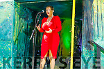 Mary Culloty singing at the Festival in a Van in Pearse Park Tralee on Friday
