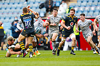 27th March 2021; Ricoh Arena, Coventry, West Midlands, England; English Premiership Rugby, Wasps versus Sale Sharks; Jimmy Gopperth and Alfie Barbeary of Wasps stop an attack