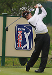 3 October 2008: Ryuji Imada watches a tee shot during the second round at the Turning Stone Golf Championship in Verona, New York.