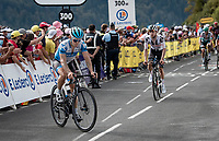 Hugo Hofstetter (FRA/Israel - StartUp Nation) zig-zagging up the steep finale of the Puy Mary (uphill finish)<br /> <br /> Stage 13 from Châtel-Guyon to Pas de Peyrol (Le Puy Mary) (192km)<br /> <br /> 107th Tour de France 2020 (2.UWT)<br /> (the 'postponed edition' held in september)<br /> <br /> ©kramon