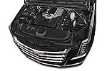Car Stock 2017 Cadillac Escalade-ESV Luxury 5 Door SUV Engine  high angle detail view