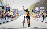 Philippe Gilbert (BEL/Quick Step floors) solo's towards victory in the 101th Ronde Van Vlaanderen 2017 (1.UWT)<br /> <br /> 1day race: Antwerp › Oudenaarde - BEL (260km)