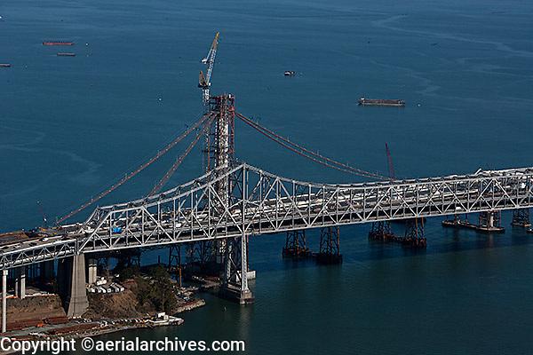 aerial photograph of San Francisco Oakland Bay Bridge