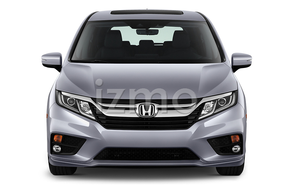 Car photography straight front view of a 2020 Honda Odyssey EX-L 5 Door Minivan Front View