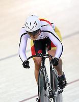 Southland's Natasha Hansen at the BikeNZ Elite & U19 Track National Championships, Avantidrome, Home of Cycling, Cambridge, New Zealand, Sunday, March 16, 2014. Credit: Dianne Manson