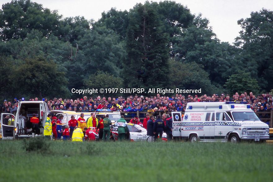 1997 British Touring Car Championship. James Thompson Crash.